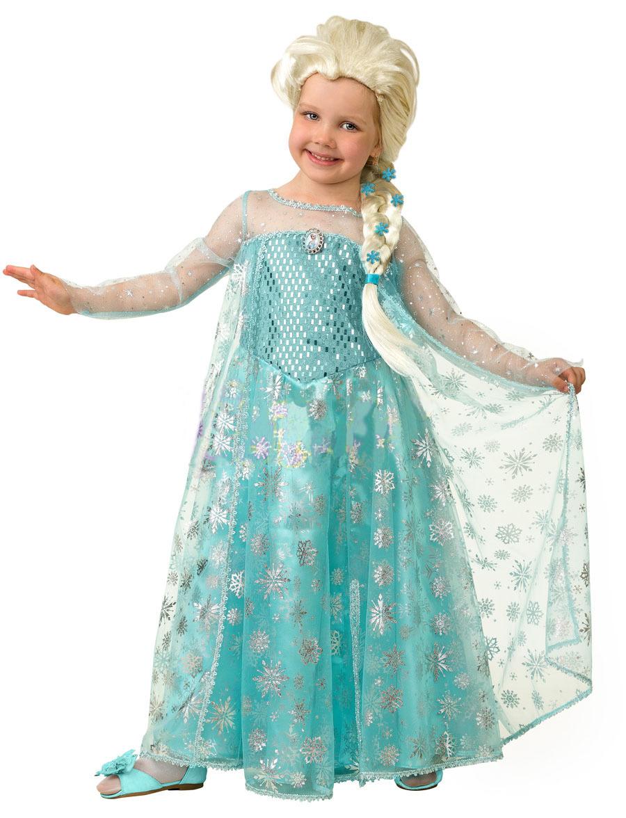 Платье эльзы холодное сердце для девочек